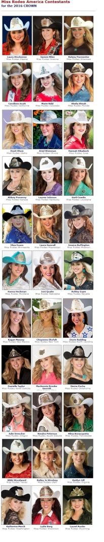 2016 Contestants